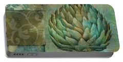 Artichoke Margaux Portable Battery Charger by Mindy Sommers