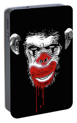 Evil Monkey Clown Portable Battery Charger by Nicklas Gustafsson