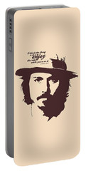 Johnny Depp Minimalist Poster Portable Battery Charger by Lab No 4 - The Quotography Department