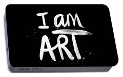 I Am Art- Painted Portable Battery Charger by Linda Woods