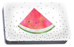 Pretty Watermelon Portable Battery Charger by Elisabeth Fredriksson