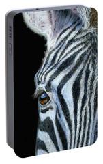 Zebra Detail Portable Battery Charger by Sarah Batalka