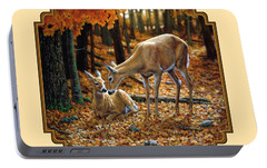 Whitetail Deer - Autumn Innocence 2 Portable Battery Charger by Crista Forest
