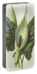 Arum, Cuckoo Pint Portable Battery Charger by Frederick Edward Hulme
