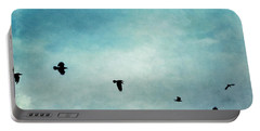 As The Ravens Fly Portable Battery Charger by Priska Wettstein