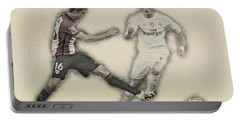 Athletic Club  Vs Real Madrid Portable Battery Charger by Don Kuing