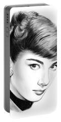 Audrey Hepburn Portable Battery Charger by Greg Joens