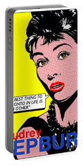 Audrey Hepburn Portable Battery Charger by John Reilly