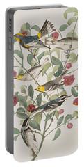 Audubons Warbler Hermit Warbler Black-throated Gray Warbler Portable Battery Charger by John James Audubon