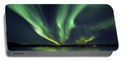 Aurora Borealis Over Tjeldsundet Portable Battery Charger by Arild Heitmann