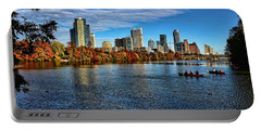 Austin Skyline From Lou Neff Point Portable Battery Charger by Judy Vincent