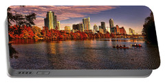 Austin Skyline Sunset Portable Battery Charger by Judy Vincent