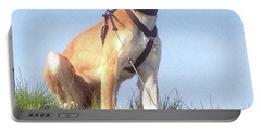 Ava-grace, Princess Of Arabia  #saluki Portable Battery Charger by John Edwards