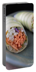 Avocado Roll Sushi Portable Battery Charger by Edward Fielding