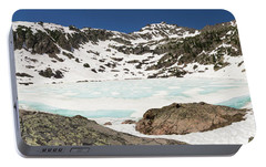 Baby Blue Pitkin Lake Portable Battery Charger by Cary Leppert