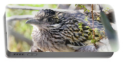Baby Roadrunner  Portable Battery Charger by Saija Lehtonen