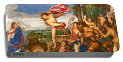 Bacchus And Ariadne Portable Battery Charger by Titian