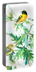 Baltimore Orioles And Oak Tree Portable Battery Charger by Suren Nersisyan