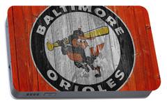 Baltimore Orioles Graphic Barn Door Portable Battery Charger by Dan Sproul