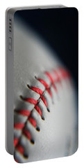 Baseball Fan Portable Battery Charger by Rachelle Johnston