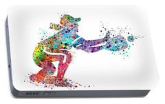 Baseball Softball Catcher 2 Sports Art Print Portable Battery Charger by Svetla Tancheva