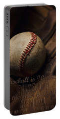 Baseball Yogi Berra Quote Portable Battery Charger by Heather Applegate