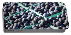 Baskets Of Blueberries Portable Battery Charger by Todd Klassy
