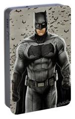 Batman Ben Affleck Portable Battery Charger by David Dias