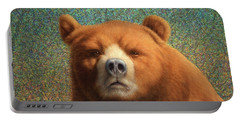 Bearish Portable Battery Charger by James W Johnson