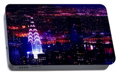 Beautiful Manhattan Skyline Portable Battery Charger by Az Jackson