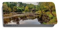 Beaver Bridge Autumn Portable Battery Charger by Adrian Evans
