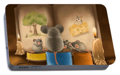Bedtime Story Portable Battery Charger by Veronica Minozzi