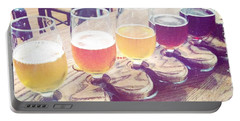 Beer Flight Portable Battery Charger by Nina Prommer