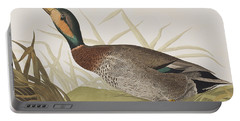 Bemaculated Duck Portable Battery Charger by John James Audubon