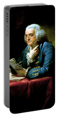 Ben Franklin Portable Battery Charger by War Is Hell Store