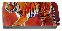 Bengal Tiger  Portable Battery Charger by Mark Adlington