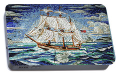 Bermuda Schooner Mosaic Portable Battery Charger by Sandy Taylor