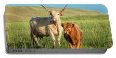 Big Horn, Little Horn Portable Battery Charger by Todd Klassy
