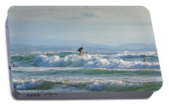 Portable Battery Charger featuring the photograph Big Surf Invitational I by Thierry Bouriat