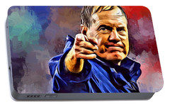 Bill Belichick Portable Battery Charger by Scott Wallace