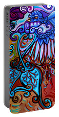 Bird Heart II Portable Battery Charger by Genevieve Esson