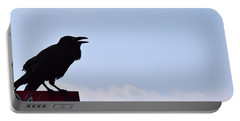 Crow Profile Portable Battery Charger by Sandy Taylor