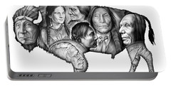 Bison Indian Montage Portable Battery Charger by Greg Joens