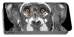 Black And White Art - Monkey Business 2 - By Sharon Cummings Portable Battery Charger by Sharon Cummings