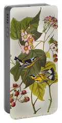 Black And Yellow Warbler Portable Battery Charger by John James Audubon