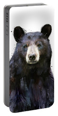 Black Bear Portable Battery Charger by Amy Hamilton