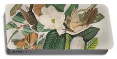 Black Billed Cuckoo Portable Battery Charger by John James Audubon