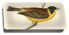 Black Headed Bunting Portable Battery Charger by English School