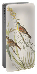Black-throated Bunting Portable Battery Charger by John James Audubon