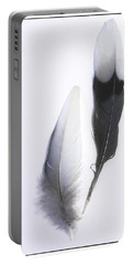 Blue Jay Feathers Portable Battery Charger by Cindi Ressler